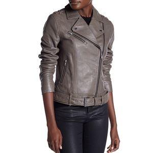 Soia & Kyo Kenley Distressed Leather Moto Jacket